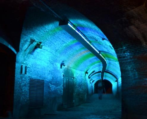 Tunnel Stadhuis met lichtshow